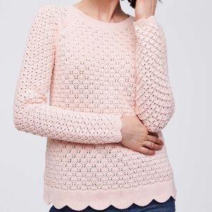 Loft Scalloped Sweater